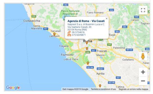 mappa agenzie filiali prestitalia zona roma