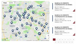 mappa filiali bcc roma