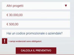 preventivo prestito 30 mila euro simulazione online sito bcc