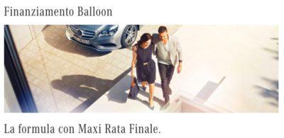 finanziamento balloon mercedes benz