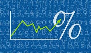 graffico in assi cartesiani con simbolo del percentuale