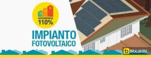 fotovoltaico con superbonus 110%