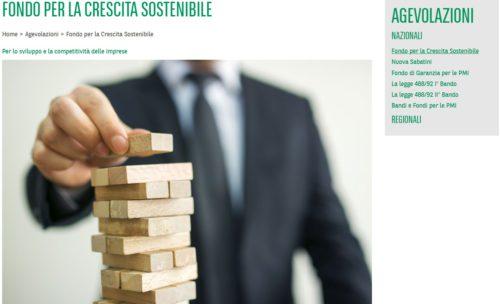 schermata sito artigiancassa fondo crescita sostenibile