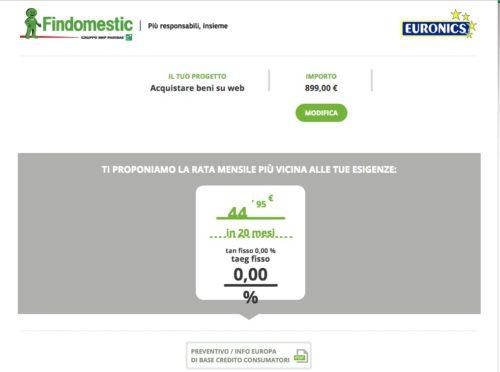 Prestito findomestic online stunning simulazione agos con for Puoi ottenere un prestito per la terra