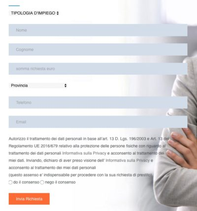 form richiesta preventivo online fin solution