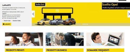 schermata sito ufficiale opel finanziamenti