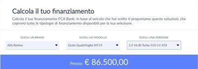 esempiocalcolo costi leasing giulia guadrifoglio alfa romeo