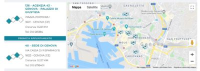 mappa filiali banca carige