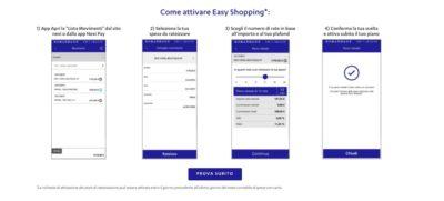 come attivare easy shopping