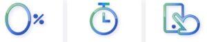 tasso zero, orologio, simbolo di uso dell'app